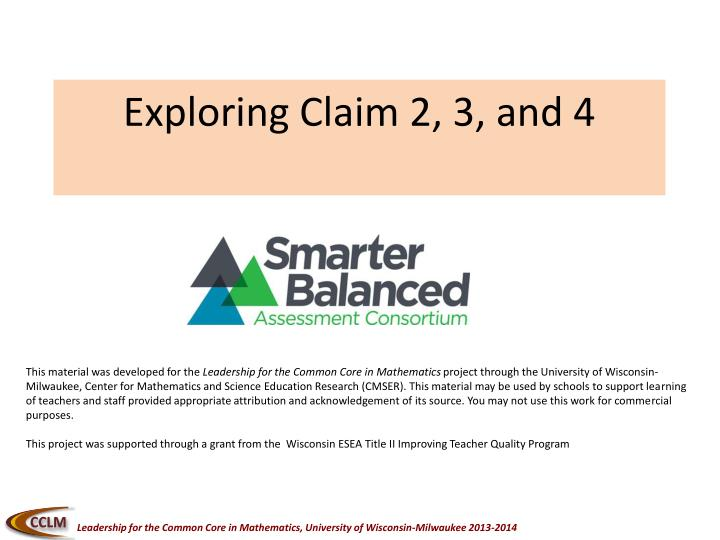 Exploring Claim 2, 3, and 4