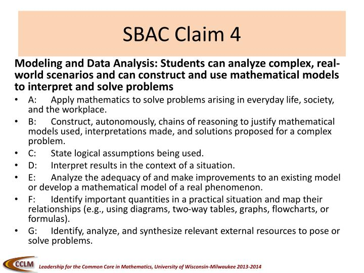 SBAC Claim 4