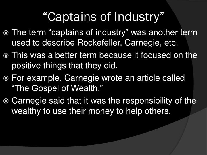 """""""Captains of Industry"""""""