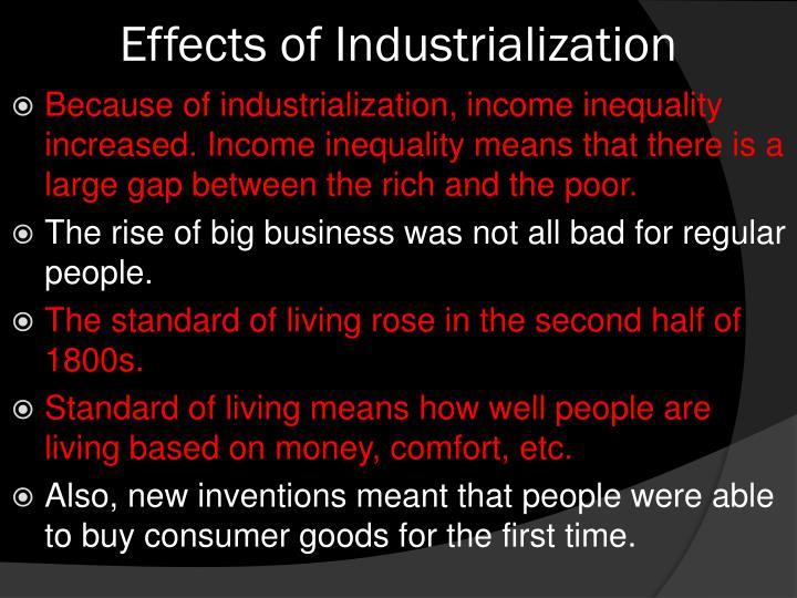 Effects of Industrialization