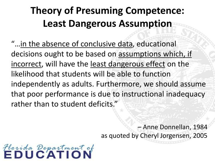 Theory of Presuming Competence: