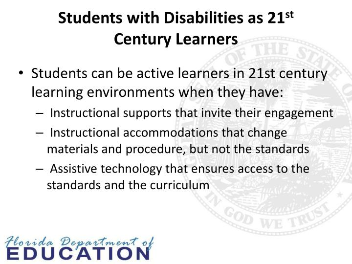 Students with Disabilities as 21