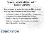 students with disabilities as 21 st century learners