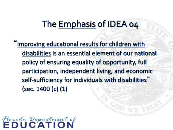The emphasis of idea 04