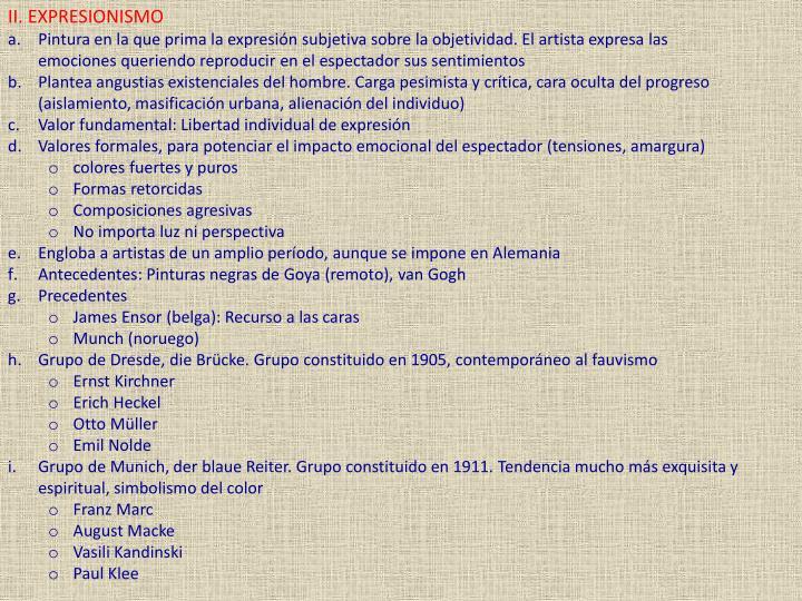 II. EXPRESIONISMO