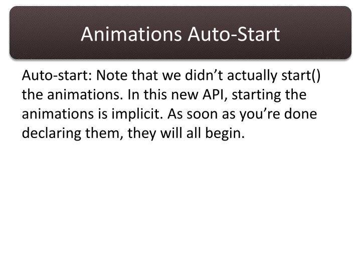 Animations Auto-Start
