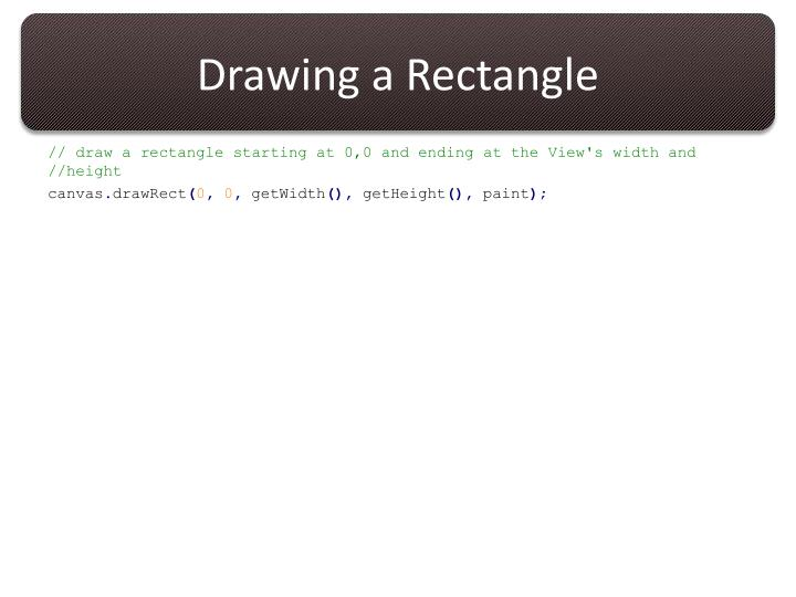 Drawing a Rectangle