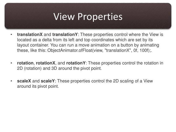 View Properties