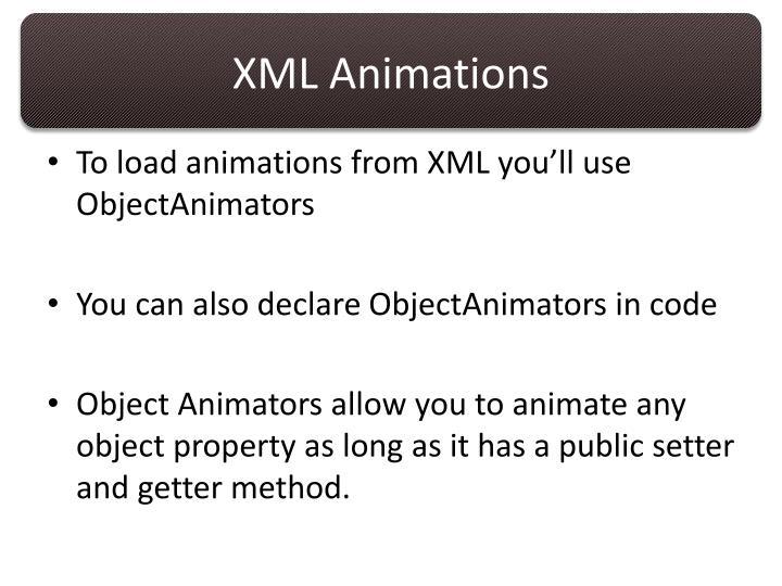 XML Animations