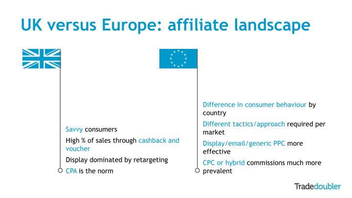 UK versus Europe: affiliate landscape