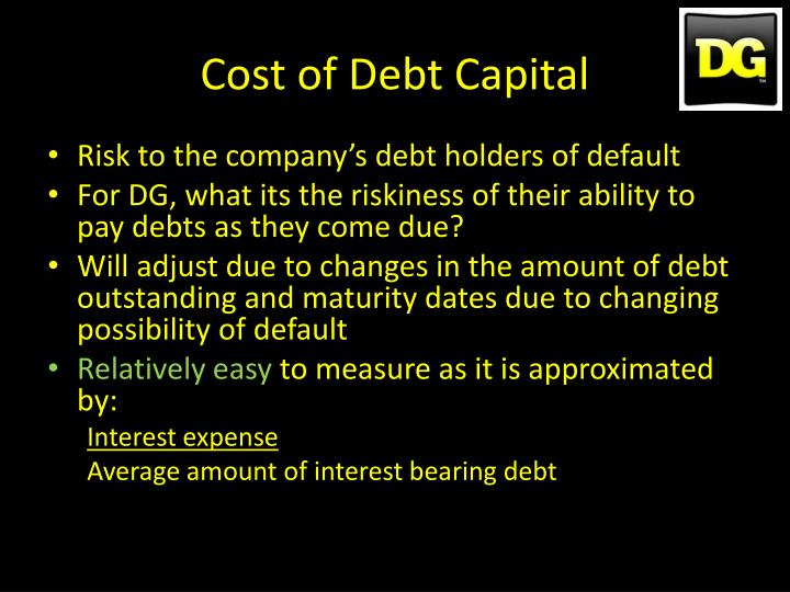 Cost of Debt Capital