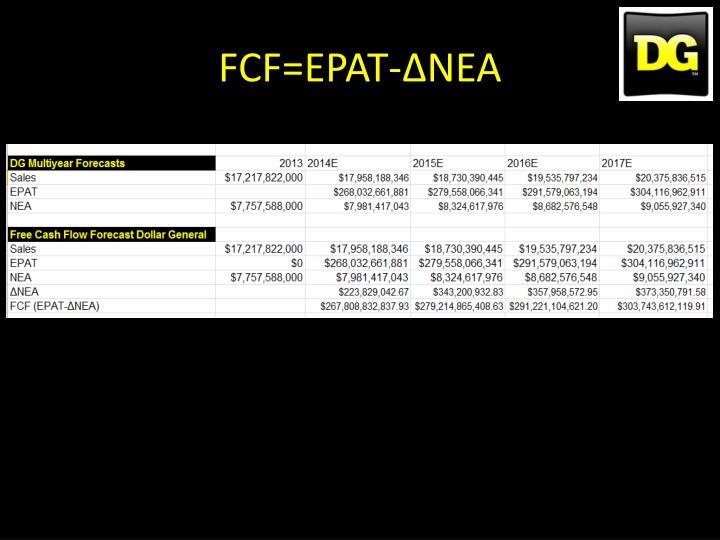 FCF=EPAT-ΔNEA