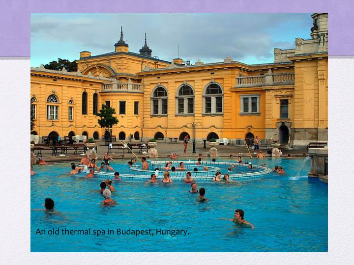 An old thermal spa in Budapest, Hungary.