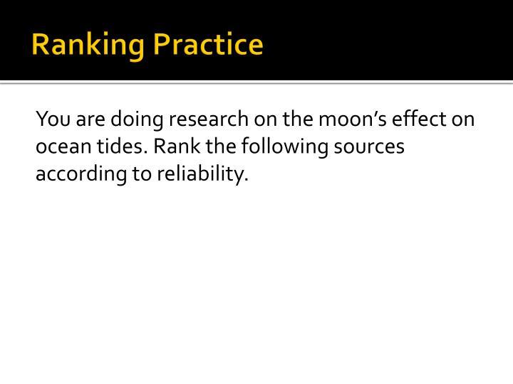 Ranking Practice