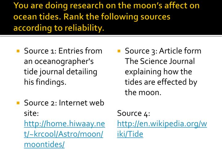 You are doing research on the moon's