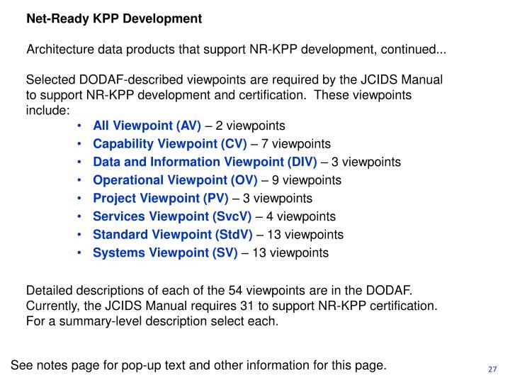 Net-Ready KPP