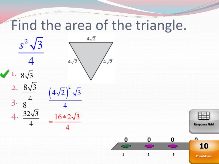 Find the area of the triangle.