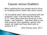causes versus enablers
