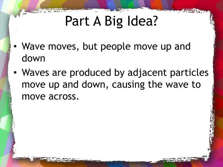 Part A Big Idea?