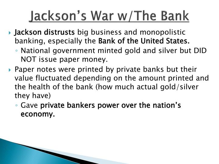 Jackson's War w/The Bank