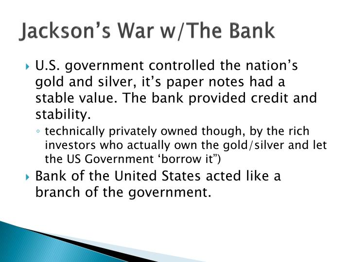 Jackson's War w/The Bank