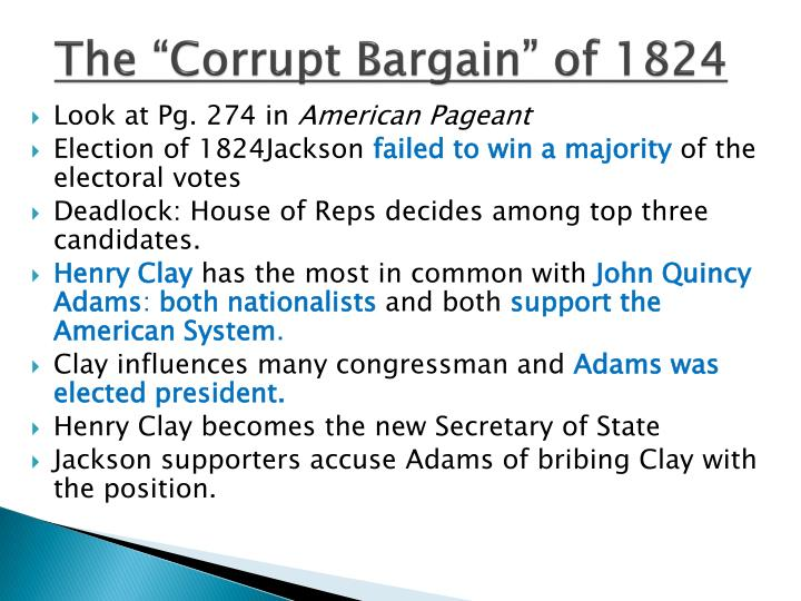The corrupt bargain of 1824
