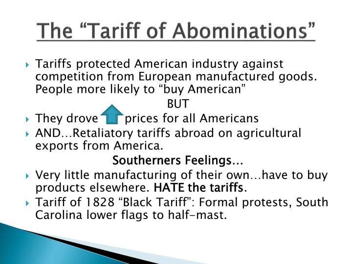 """The """"Tariff of Abominations"""""""