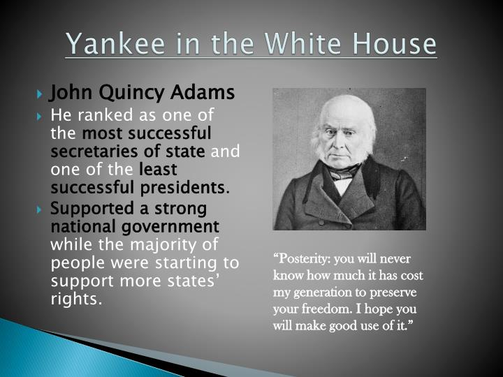 Yankee in the white house
