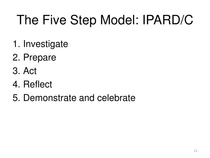 The Five Step Model: IPARD/C