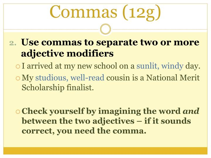 Commas (12g)