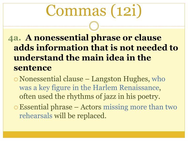 Commas (12i)