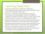 learning objectives7