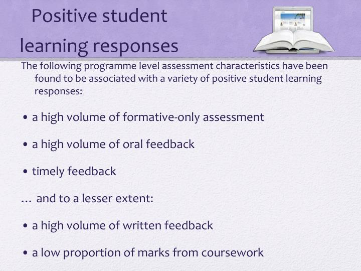 Positive student learning responses