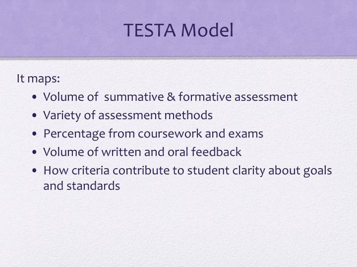 TESTA Model