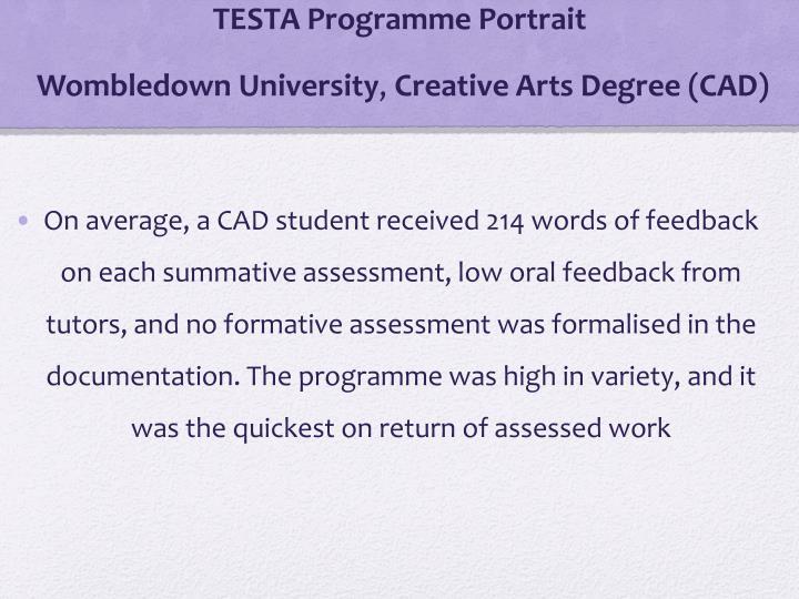 TESTA Programme Portrait