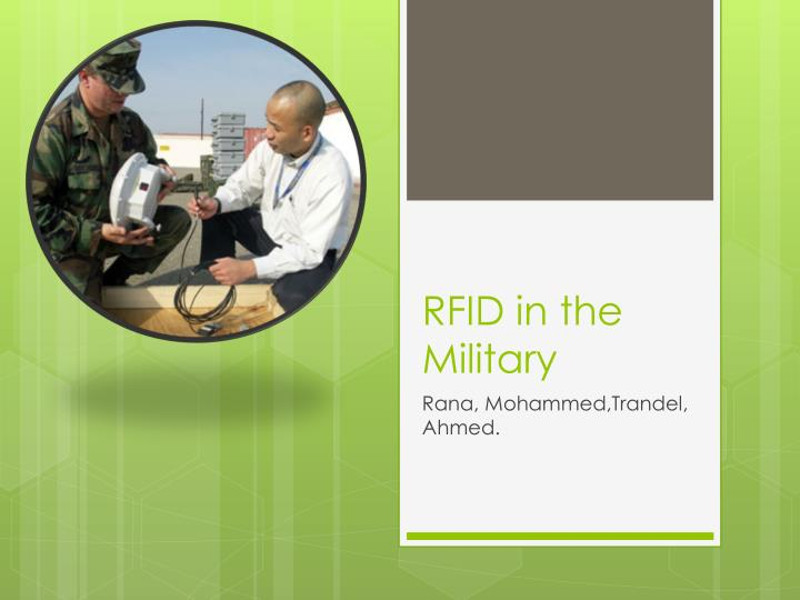 Rfid in the military