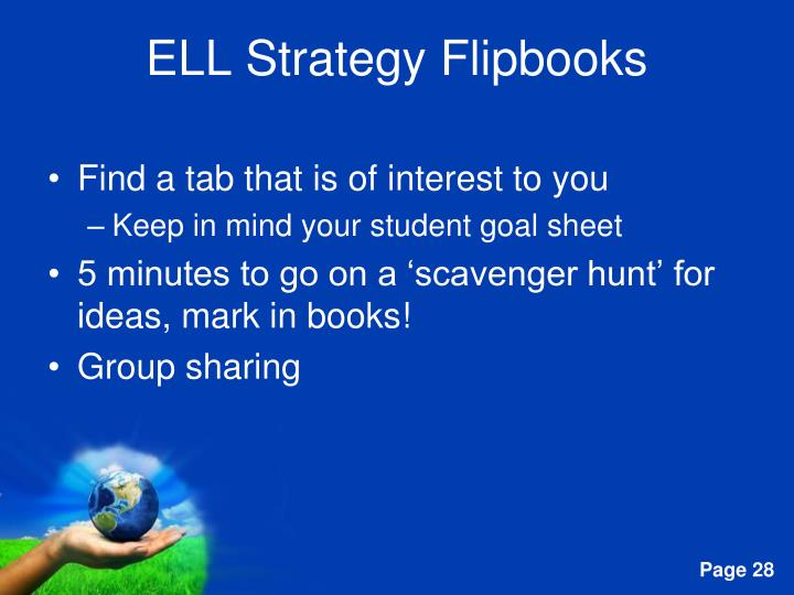 ELL Strategy Flipbooks