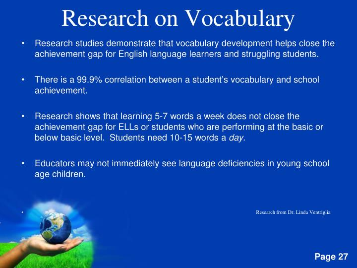 Research on Vocabulary