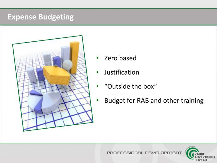 Expense Budgeting