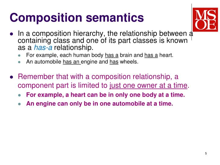 Composition semantics
