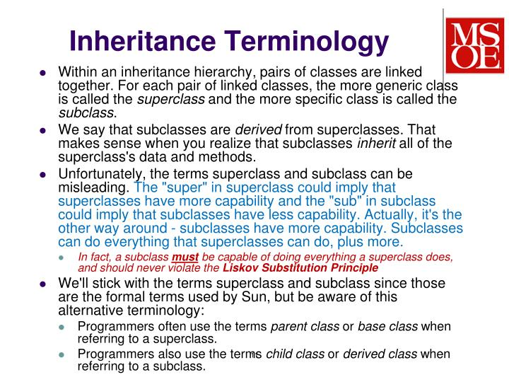 Inheritance Terminology