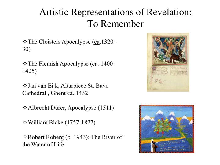 Artistic Representations of Revelation: