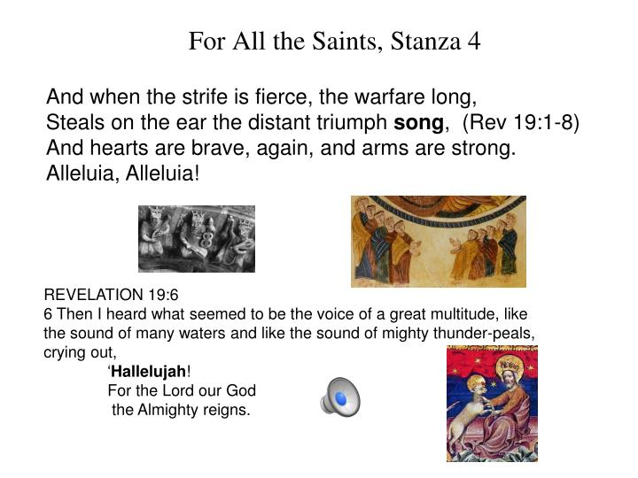 For All the Saints, Stanza 4