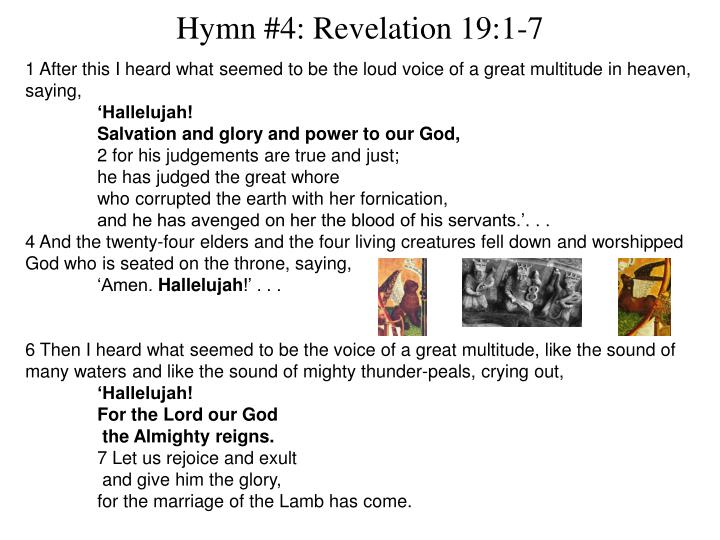 Hymn #4: Revelation 19:1-7