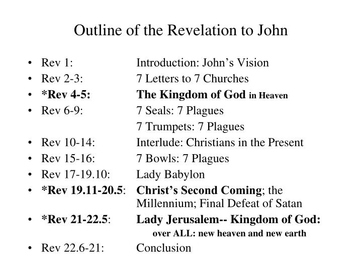 Outline of the Revelation to John