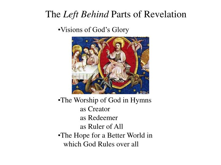 The left behind parts of revelation