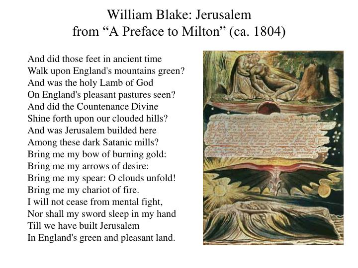 William Blake: Jerusalem