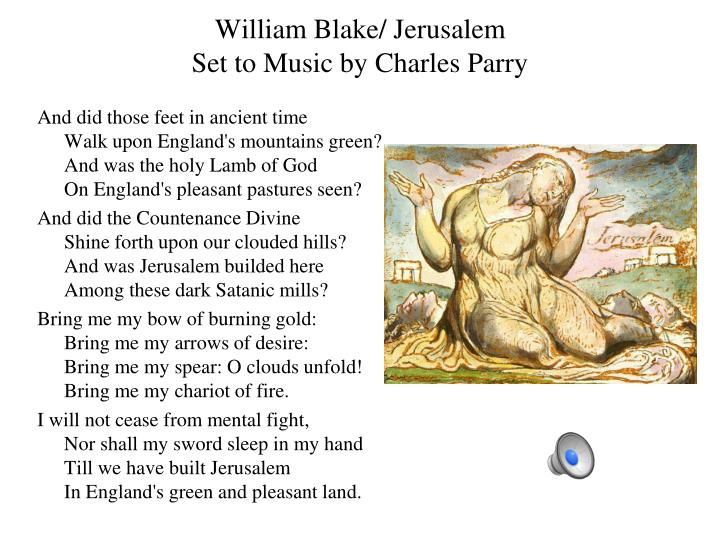 William Blake/ Jerusalem