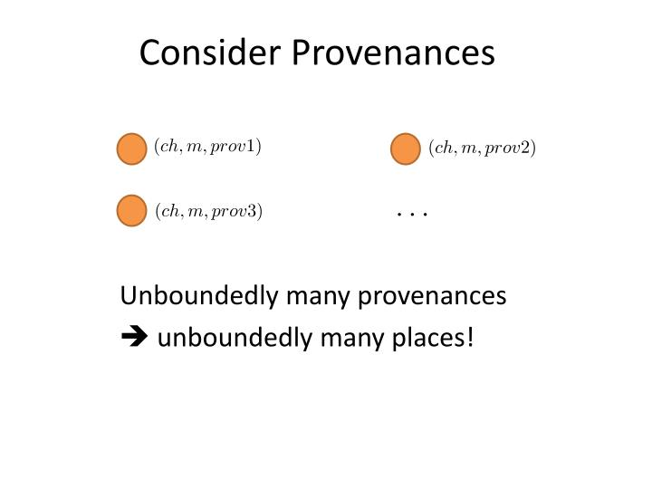 Consider Provenances