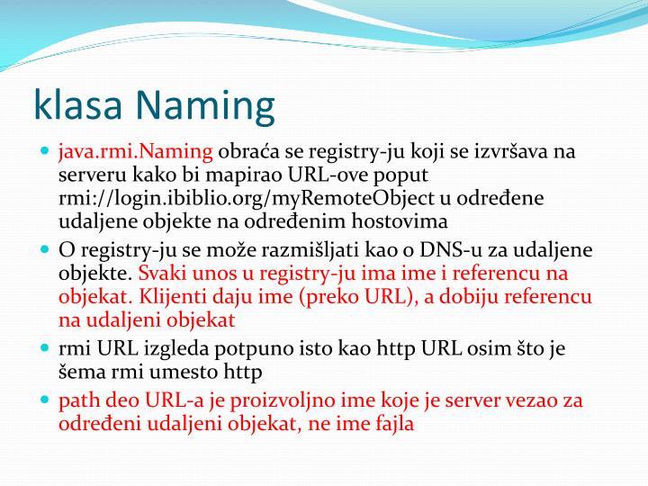 klasa Naming